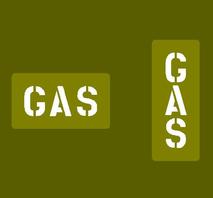 """Schablon reservdunk """"GAS"""""""