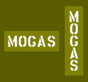 """Jerry can stencil """"MOGAS"""""""