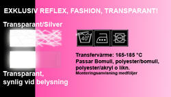 Siffra/Bokstav FASHION TRANSPARANT REFLEX
