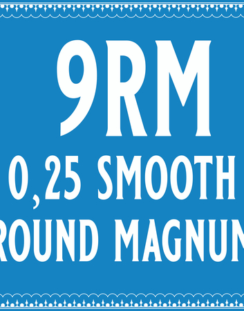 25/9 Smooth Round Magnum Cartridge