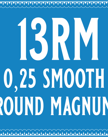 25/13 Smooth Round Magnum Cartridge