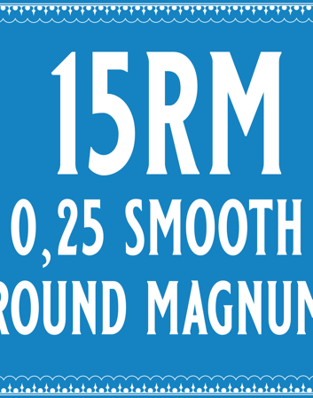 25/15 Smooth Round Magnum Cartridge