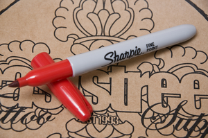 Sharpie Penna Red