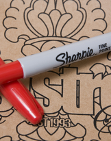 Sharpie Pen Red