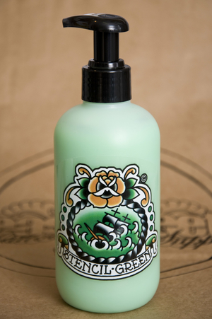 Stencil Green  pump 8oz