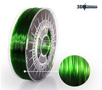 3D Filament PETG Standard  Rent Grön transparent