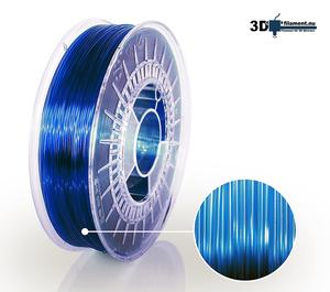 3D Filament PETG Standard  Himmelsblå transparent