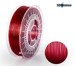 3D Filament PETG Standard  Vinröd transparent