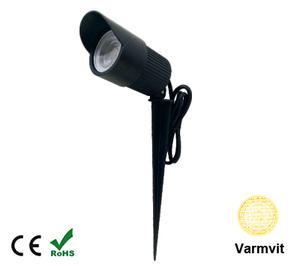 Led COB Trädgårdslampa 7W Varmvit