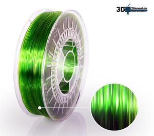 3D Filament PETG Standard  Ljusgrön transparent