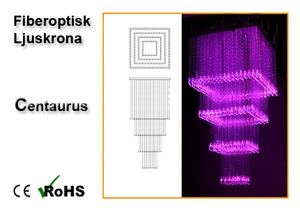 Fiberoptisk Ljuskrona Centaurus