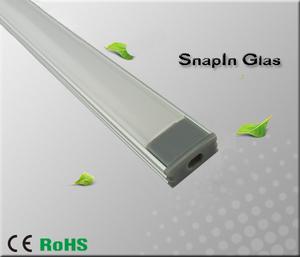 """Aluminiumprofil för ledtejp Låg """"Snap In Glas"""""""