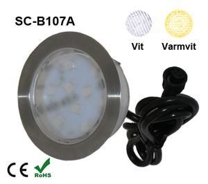 Deck/Floorlight Lampa 2,5W Vit/Varmvit
