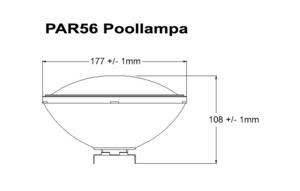 Poolbelysning PAR56 COB 70W Varmvit Rostfritt lamphus