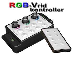 LED/RGB-Vridkontroller med fjärrkontroll