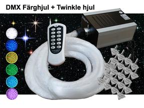 Stjärnhimmelpaket 20W DMX Twinkle Dimbar Ledprojektor 13kvm