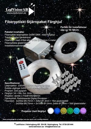 Stjärnhimmelpaket 2x5W Dubbel DMX Ledprojektor 15kvm