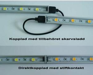 Ledlist i aluminium SMD5630 0,5m