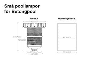 Små Poollampor SMD5050 3W Kallvit för Betong & Linerpool