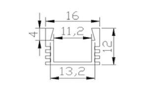 Ledlist i aluminium SMD5630 0.5m