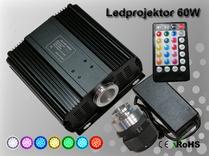Fiberoptisk Ledprojektor 60W RGBW DMX