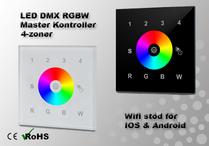 LED DMX RGBW Väggkontroller 4-zon Wifi