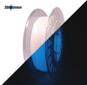 3D Filament PLA Glow in the Dark Blue