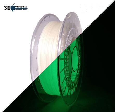 3D Filament PLA Glow in the Dark Green