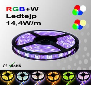 Ledtejp RGB+W Flerfärgad + Vit el. Varmvit 14,4W/m