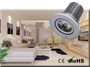 Dimbar COB Downlight Lampa Silver 10W