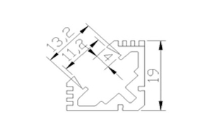 Ledlist i aluminium SMD5630 Vinklad 1.0m