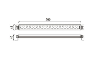Led Wallwasher 24VDC 36w 3in1 RGB