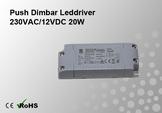 Push Dimbar Leddriver/Nätdel 230VAC/12VDC 20W