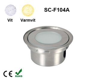 Inground Lampa 0,5W Kapslad  Vit/Varmvit