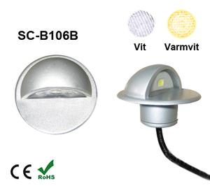 Deck/Floorlight Lampa 0,4W Keps Vit/Varmvit
