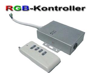 LED/RGB-kontroller 12VDC med fjärrkontroll