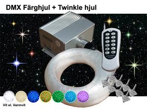 Stjärnhimmelpaket 5W DMX Twinkle Dimbar Ledprojektor 8kvm