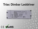 Triac Dimbar Leddriver/Nätdel 230VAC/12VDC 40W