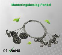 Beslag Nedhängd/Pendlad Montering