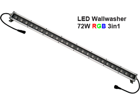 Led Wallwasher 24VDC 72w 3in1 RGB