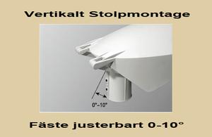 Led Stolparmatur HighPower 44W Vinkl.bart Stolpfäste