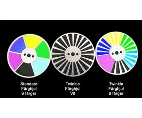 Twinkle Färghjul för Ledprojektorer 3W , 5W, 2x5W & 10W
