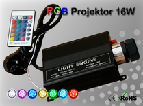 Fiberoptisk Ledprojektor 16W Flerfärgad RGB
