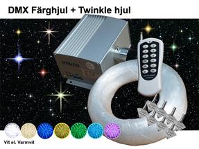 Stjärnhimmelpaket 10W DMX Twinkle Dimbar Ledprojektor 8kvm