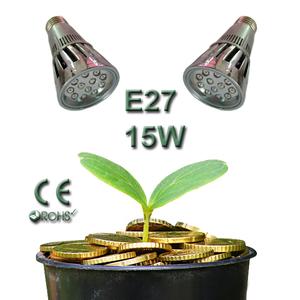 Led Växtbelysningslampa E27 15W HighPower