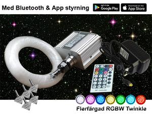 Stjärnhimmelpaket 10W RGBW Twinkle APP 3,5kvm