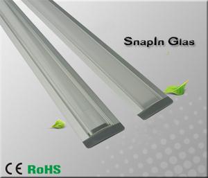 """Aluminiumprofil för ledtejp Infälld Låg """"Snap In Glas"""""""