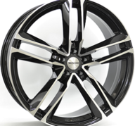 "22"" MONACO MC7 - Gloss Black / Polished 9x22 - ET26"