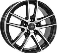 "18"" ANZIO SPLIT - Gloss Black / Polished 8x18 - ET45"