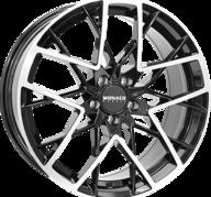 "19"" MONACO GP9 - Gloss Black / Polished 8,5x19 - ET40"